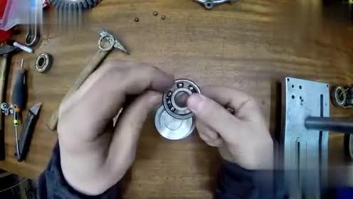 废弃的轴承还能修复?我还是第一次见,看小哥是如何做到的