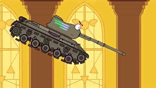 坦克世界动画:白色kv44来了准备战斗图片