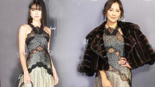刘嘉玲与泰国范冰冰差26岁 同穿5万连衣裙,居然美得不相上下