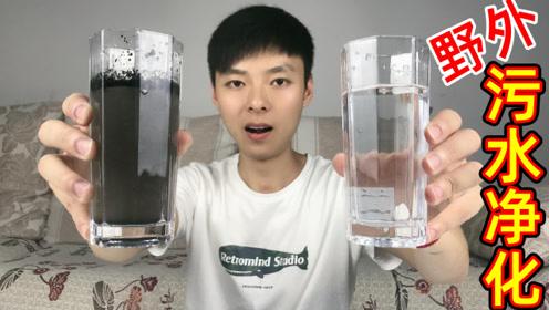 用网上流传的几种野外净水方法,真的能将污水净化成能喝的水?