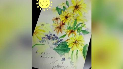 张馨予将画送给了一位老公光荣牺牲的警嫂,发文安慰:愿一切安好