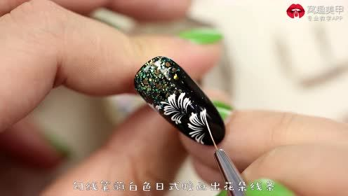 优雅复古 黑色纹理花