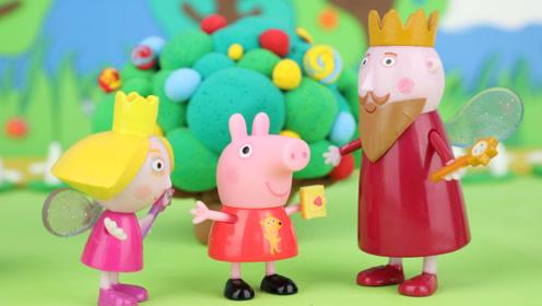 小猪佩奇和莉莉山间探险,去彩虹的尽头 寻找神秘水晶石和糖果!