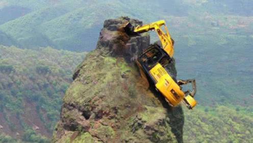 """悬崖上建大桥,中国挖掘机是怎样""""爬""""上去的?网友:蓝翔牛啊!"""