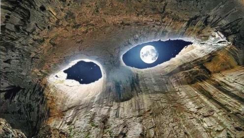 """深山里惊现""""上帝之眼"""",游客慕名前往,盯久了竟还会被催眠?"""