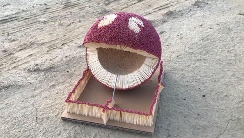 用火柴拼了一个吃豆人-Pac-Man