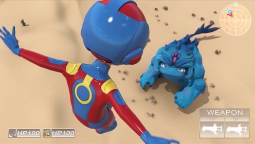 《咖宝车神》燃爆战斗!闪电爆裂踢致命一击踢向宇宙大怪物