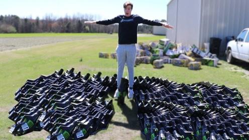 男子购买100个吹风机,想测试能否把人吹起来,一起看看结果!