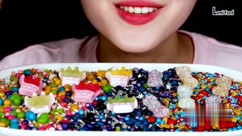 甜食的吃播:糖果,橡皮糖,星空糖,这声音太好听了吧