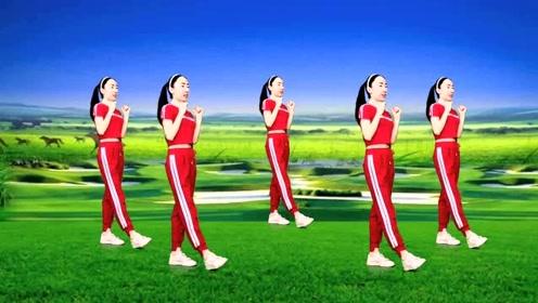 经典老歌新跳广场舞《火苗》零基础弹跳32步附分解,适合初学者