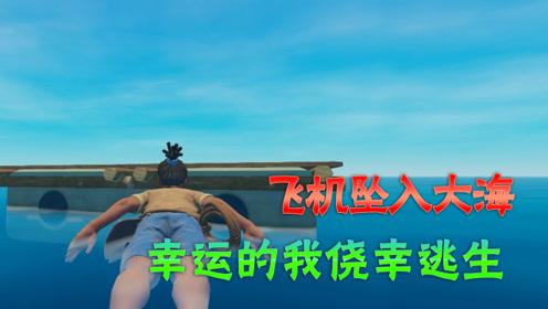木筏求生01:飞机意外失事坠入大海,幸运的我侥幸逃生