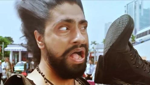 脑洞开歪的印度神片,主角比钢铁侠能打,却脚装吹风机给人吹头!