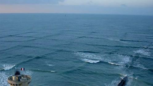 海啸可怕吗?但在海边遇见这种方形波浪更可怕, 见者必逃!