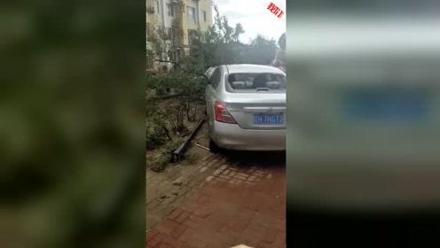 营口突现龙卷风致6人轻伤  200户居民热水器等设施受损