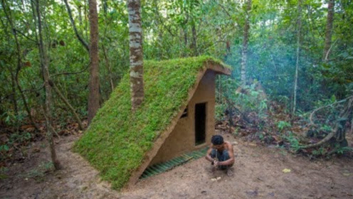 农村小伙体验隐居生活,建造玲珑小屋,空气清新野味免费吃!
