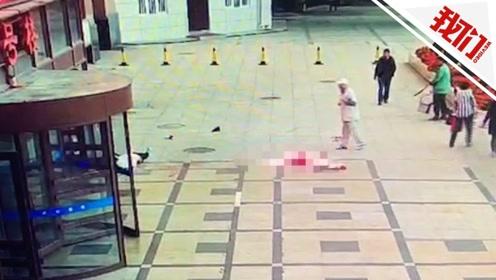哈医大一院一女子坠楼砸中楼下男子 事发瞬间视频曝光