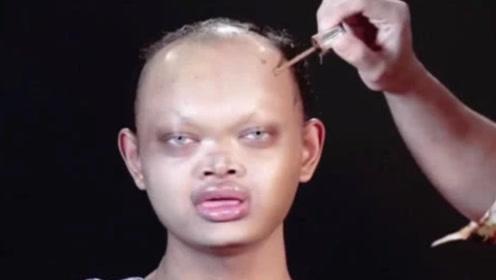 """全球最神奇的""""整容""""化妆术,将超级丑男变女神,神仙都不敢信"""