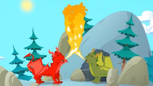 朋友很害怕小红龙喷火,它伤心离开,幸运的是在山洞遇到伙伴!