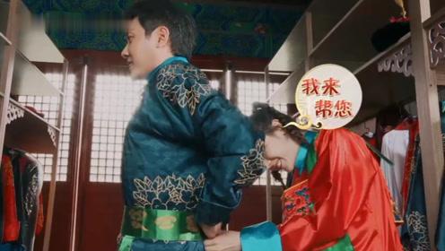 迪丽热巴伺候冯绍峰更衣,谁注意到他的表情,网友:颖宝吃醋无疑