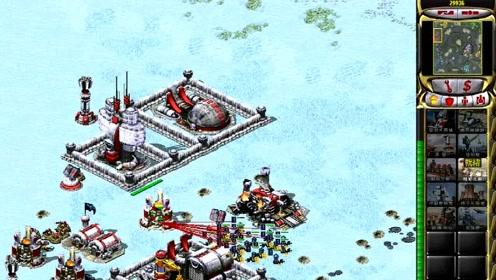 《红色警戒2共和国之辉》1V7随机冷酷,好在敌军不会超武!