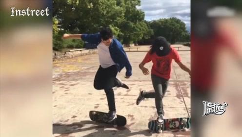 自由式滑板玩法,其实也真的挺酷的