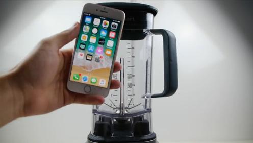 苹果与三星谁更结实?老外拿出榨汁机,结果让老外意想不到