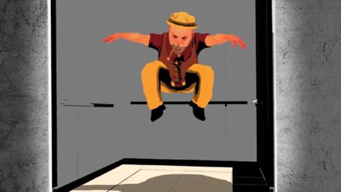 电梯突然坠落,触底时跳一下真能救命?动画模拟还原全过程