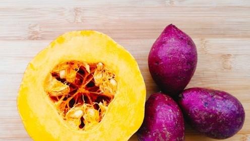南瓜里加3个紫薯新吃法,不炸不烤,外面都买不到,孩子喊没吃够