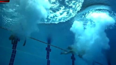 日本美女双人跳水,谁知入水时发生尴尬一幕,裁判都被水花溅醒了