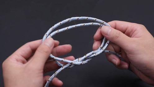 学会这4种绳子打结方法,生活中处处用到,方法一看就会,太棒了