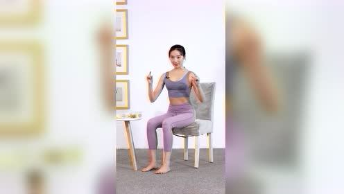坐姿二郎腿扭转式——缩腰瘦腹9.6