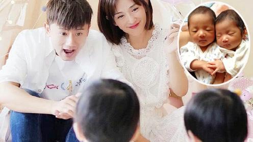 谢娜张杰1岁双胞胎女儿正面首曝光,长相随爸性格像妈