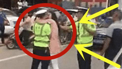 23岁女司机被扣, 当街强吻交警, 网友:放开他, 冲我来!