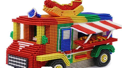 """老外用巴克球堆出""""餐车"""",真的能开动吗?网友:这动手能力太强"""