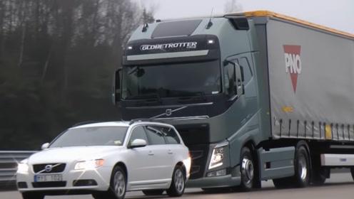 """沃尔沃""""自刹系统""""有多牛?不减速直接冲向小汽车,下一幕惊险了"""