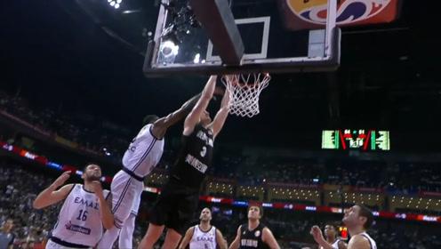 篮球世界杯新西兰十佳球 韦伯斯特夹缝中击地妙传助飞德拉尼暴扣