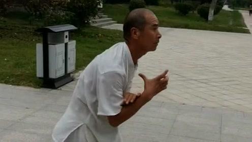 偶遇高手练武术,不知道这是什么功夫,有懂行的吗