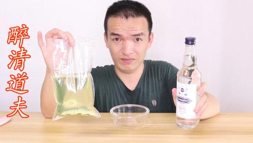 将清道夫放入96%酒精的生命之水,会发生什么?