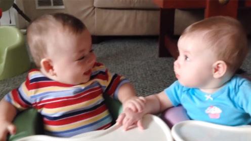 哥哥笑哈哈,弟弟一脸懵,哥哥:开森就对啦!