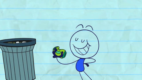 铅笔人小蓝一个无意的举动,引发一系列后果,把地球都烧着了!