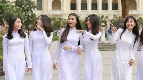 为何越南女人都穿奥黛?除了好看,还为了方便游客做这种事