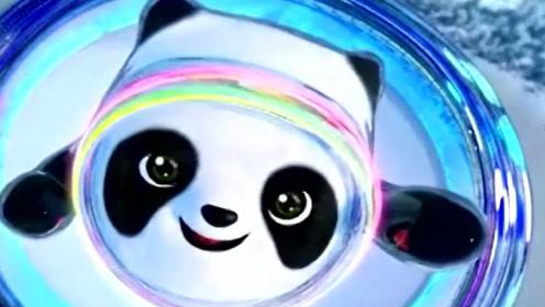 北京冬奥会吉祥物冰墩墩,契合熊猫的整体形象!
