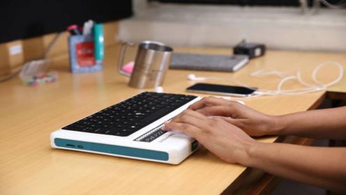印度发明盲文电脑,就一个键盘,让盲人也能上网聊天