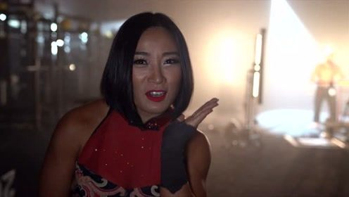 WWE中国女将李霞为NXT登陆美国电视台拍摄庆祝花絮