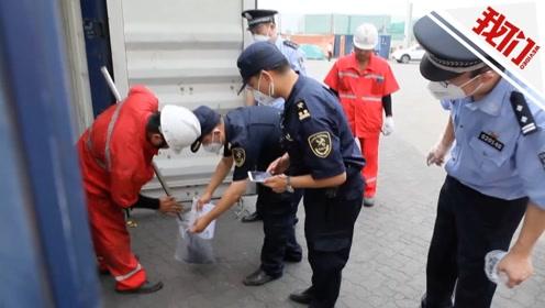 """天津海关组织两轮专项打击行动 退运7500余吨""""洋垃圾"""""""