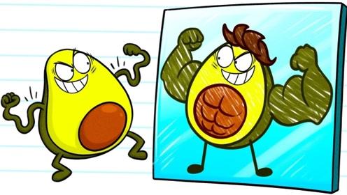 水果人和自画像成为好朋友,俩人形影不离,却因一女生反目成仇!