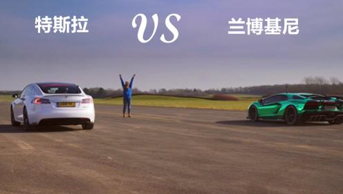 兰博基尼单挑特斯拉,起步嚣张的电动车,能扛住更持久的燃油车吗