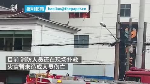 常州一公司仓库大火,暂无人员伤亡