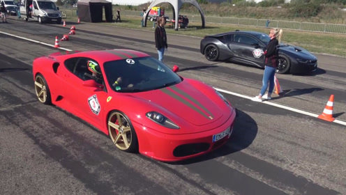 同样是超级跑车,当宝马i8遇到法拉利F430,差距一目了然!