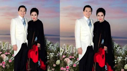 向太晒与向华强合照庆祝结婚39年,网友:把自己P得像郭碧婷